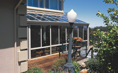 Straight Glass Roof Sunroom Or Patio Room With Aluminum