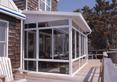 Straight Solid Roof Sunroom Or Patio Room With Aluminum Frame