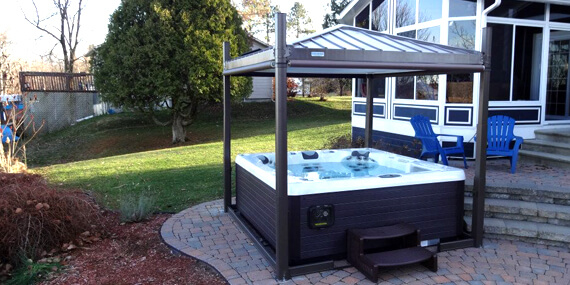 Covana Gazebo Hot Tub Cover Family Image