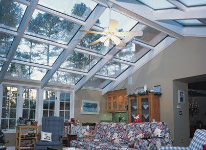 Glass Cathedral Roof Sunroom Or Solarium With Wood