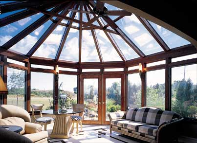 Victorian conservatory with wood interior hotspring spas for 4 season sun room