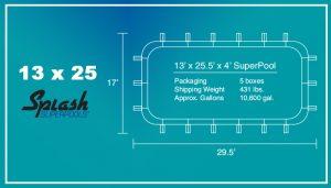 13x25 SuperPool Specs