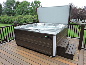Can My Deck Handle A Hot Tub Hotspring Spas Pools Tables 2