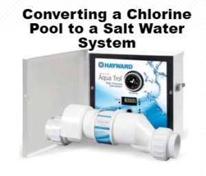 This is a thumbnail for converting a chlorine pool to a salt water pool