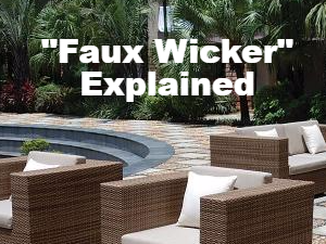 This is a thumbnail for an article about faux wicker.