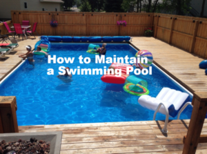 This is a thumbnail for an article on maintaining a swimming pool.