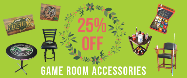25% Off Game Room Accessories