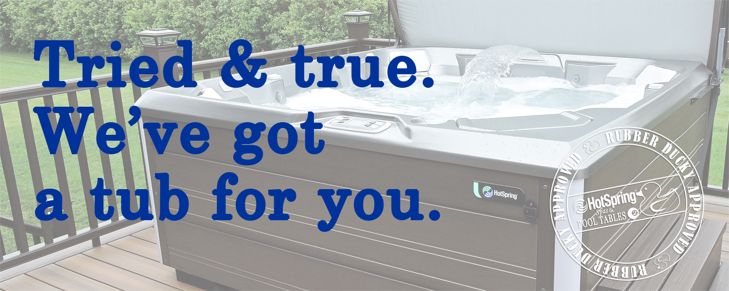 Over 20 Pre-Owned Hot Tubs in Stock