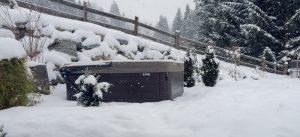 Snowy Hot Tub