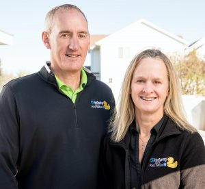 Owners Vince and Sarah Wuebker